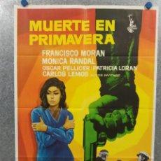 Cine: MUERTE EN PRIMAVERA. MONICA RANDAL, FRANCISCO MORAN. AÑO 1973 POSTER ORIGINAL. Lote 270693083
