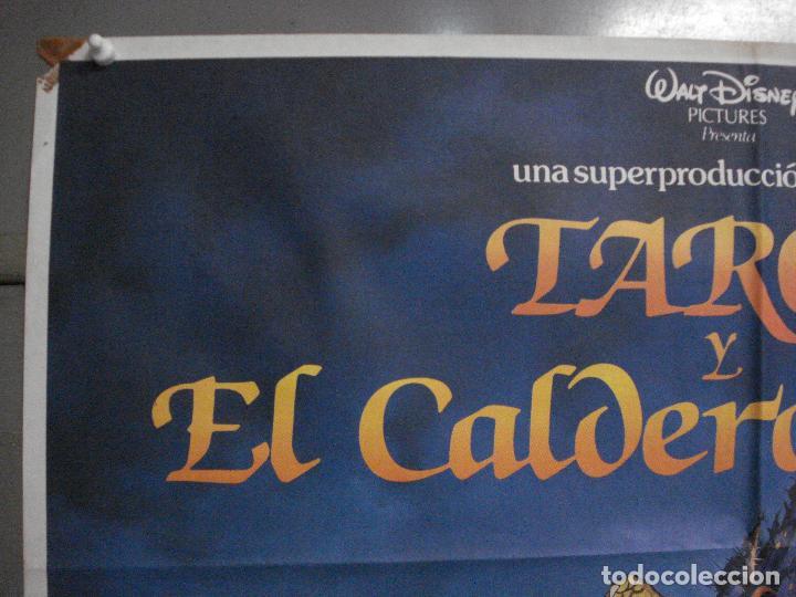 Cine: CDO L137 TARON Y EL CALDERO MAGICO WALT DISNEY POSTER ORIGINAL ESTRENO 70X100 - Foto 2 - 271068618