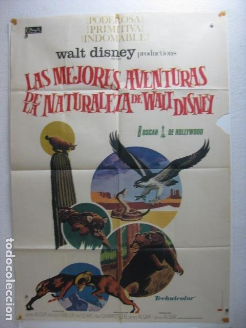 LAS MEJORES AVENTURAS DE LA NATURALEZA DE WALT DISNEY - POSTER CARTEL ORIGINAL - DOCUMENTAL L (Cine - Posters y Carteles - Infantil)