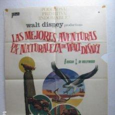 Cine: LAS MEJORES AVENTURAS DE LA NATURALEZA DE WALT DISNEY - POSTER CARTEL ORIGINAL - DOCUMENTAL L. Lote 271073858