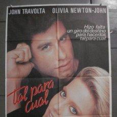 Cine: CDO L147 TAL PARA CUAL OLIVIA NEWTON-JOHN JOHN TRAVOLTA POSTER ORIGINAL 70X100 ESTRENO. Lote 271090313