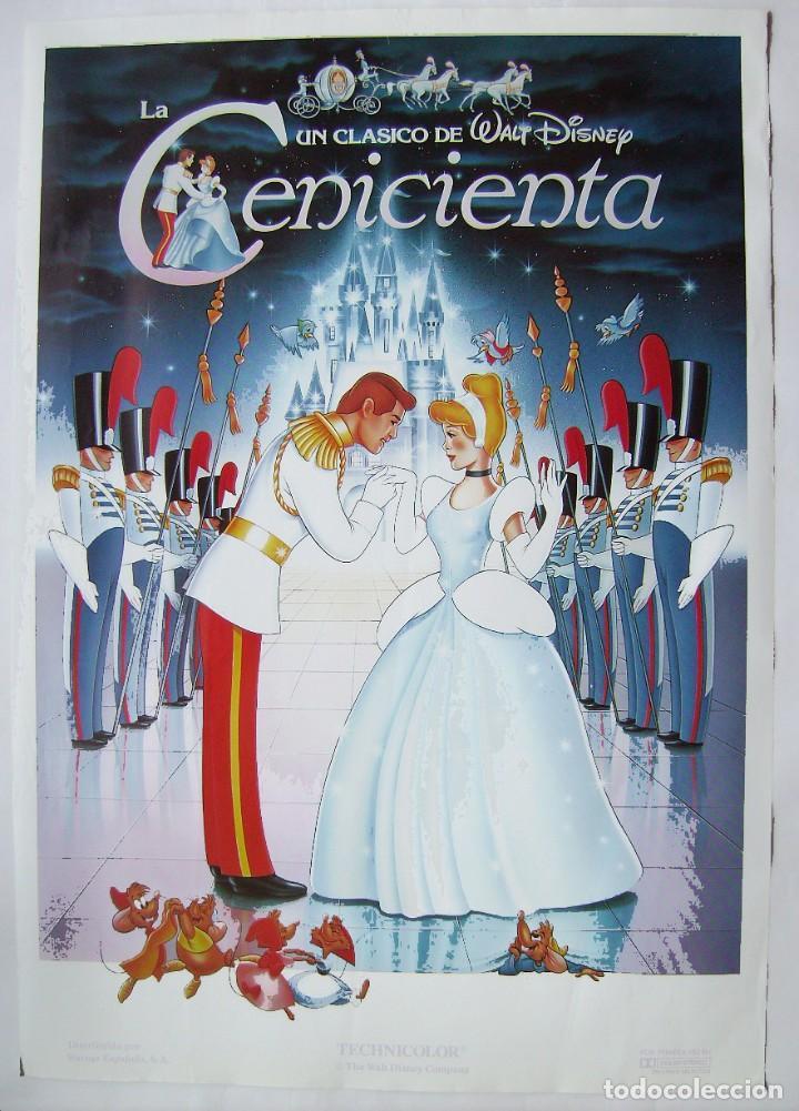 LA CENICIENTA, DE WALT DISNEY. POSTER 70 X 100 CMS.. (Cine - Posters y Carteles - Infantil)