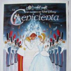 Cine: LA CENICIENTA, DE WALT DISNEY. POSTER 70 X 100 CMS... Lote 271116183