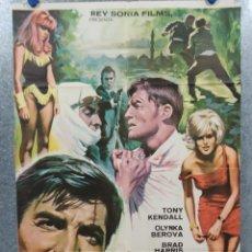 Cinema: COMISARIO X Y LOS TRES PERROS VERDES. TONY KENDALL, BRAD HARRIS AÑO 1969. POSTER ORIGINAL. Lote 271127933