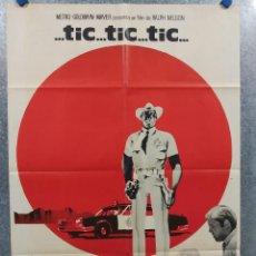 Cine: TIC, TIC, TIC. JIM BROWN, GEORGE KENNEDY. AÑO 1985 POSTER ORIGINAL DEL ESTRENO. Lote 271135733