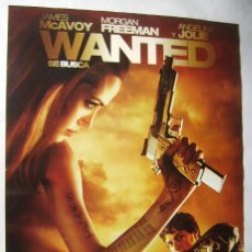 Cine: WANTED. SE BUSCA , CON ANGELINA JOLIE. PÓSTER 68,5 X 98,5 CMS.. Lote 271147873