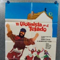 Cine: EL VIOLINISTA EN EL TEJADO. TOPOL, NORMA CRANE, LEONARD FREY AÑO 1971. POSTER ORIGINAL. Lote 271154073