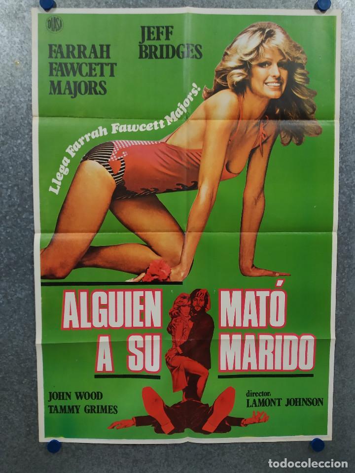 ALGUIEN MATÓ A SU MARIDO. FARRAH FAWCETT, JEFF BRIDGES. POSTER ORIGINAL (Cine - Posters y Carteles - Comedia)