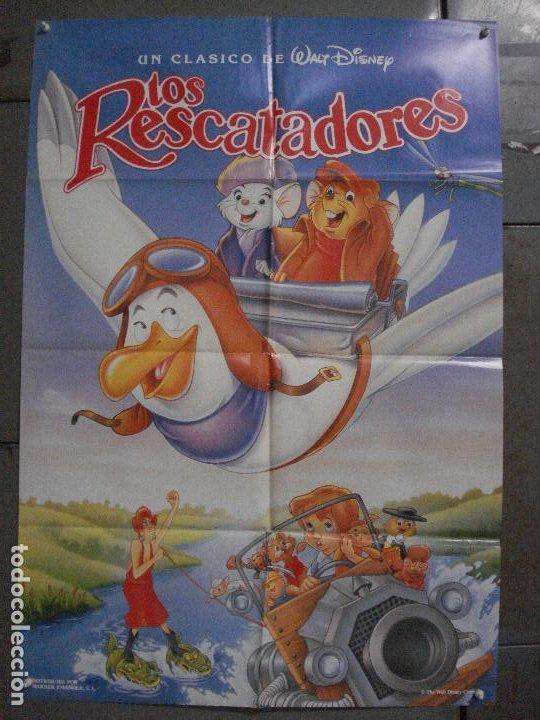 CDO L169 LOS RESCATADORES WALT DISNEY POSTER ORIGINAL 70X100 R-90'S (Cine - Posters y Carteles - Infantil)