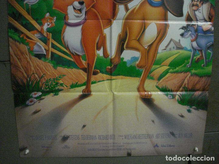 Cine: CDO L171 TOD Y TOBY WALT DISNEY POSTER ORIGINAL 70X100 ESPAÑOL R-90S - Foto 3 - 271186198