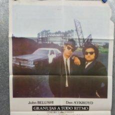Cine: GRANUJAS A TODO RITMO. DAN AYKROYD, JOHN BELUSHI. POSTER ORIGINAL. Lote 271344533