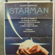 Cine: STARMAN, EL HOMBRE DE LAS ESTRELLAS. JEFF BRIDGES KAREN ALLEN JOHN CARPENTER AÑO 1984 POSTER ORIGINA. Lote 271355543