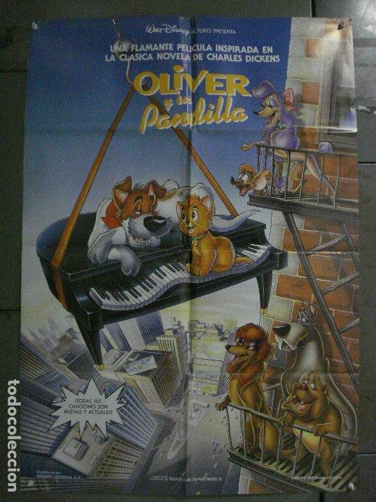 CDO L173 OLIVER Y SU PANDILLA WALT DISNEY POSTER ORIGINAL 70X100 ESTRENO (Cine - Posters y Carteles - Infantil)
