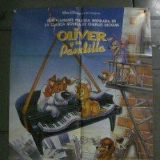 Cine: CDO L173 OLIVER Y SU PANDILLA WALT DISNEY POSTER ORIGINAL 70X100 ESTRENO. Lote 271359228