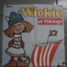 Cine: CDO L176 WICKIE EL VIKINGO ANIMACION POSTER ORIGINAL ESTRENO 70X100. Lote 271362273