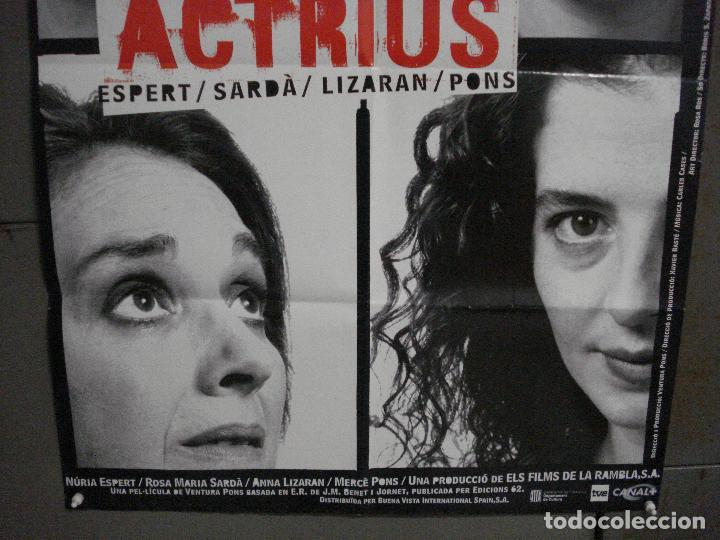 Cine: CDO L177 ACTRICES ACTRIUS ESPERT SARDA LIZARAN PONS BENET JORNET POSTER ORIG 70X100 ESTRENO CATALAN - Foto 3 - 271363228