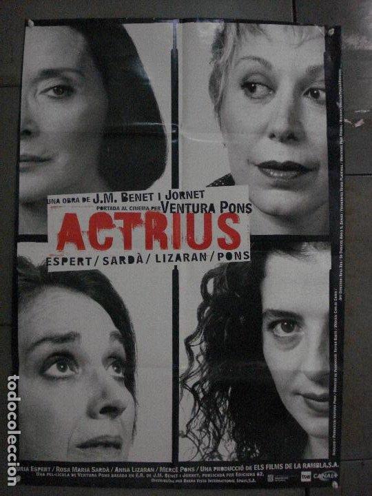 CDO L177 ACTRICES ACTRIUS ESPERT SARDA LIZARAN PONS BENET JORNET POSTER ORIG 70X100 ESTRENO CATALAN (Cine - Posters y Carteles - Infantil)
