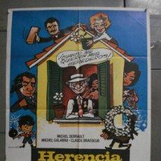 Cine: CDO L186 HERENCIA A LA FRANCESA MICHEL SERRAULT MATAIX POSTER ORIGINAL 70X100 ESTRENO. Lote 271389518