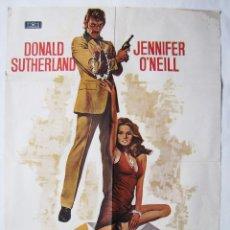 Cine: FRÍA COMO UN DIAMANTE, CON DONALD SUTHERLAND. POSTER 70 X 100 CMS.1974. DISEÑO: MAC. Lote 271413728