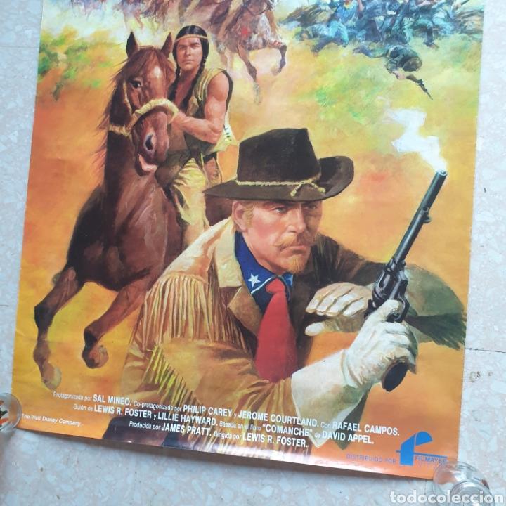 Cine: Cartel película Walt Disney TONKA en La Última Batalla del General Custer Filmayer Video 68 x 48 cm. - Foto 2 - 271519663