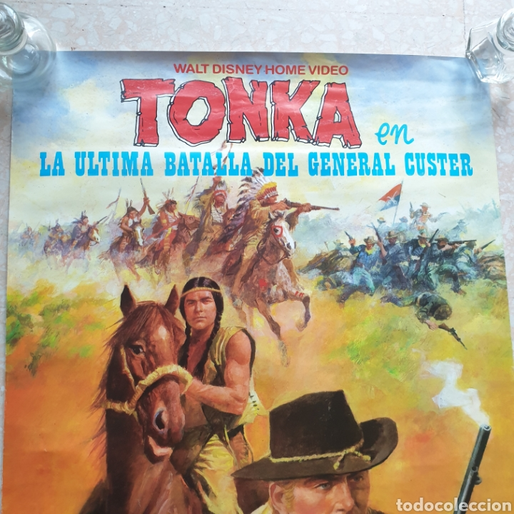 Cine: Cartel película Walt Disney TONKA en La Última Batalla del General Custer Filmayer Video 68 x 48 cm. - Foto 4 - 271519663