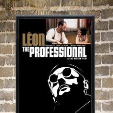 Cine: CUADRO LEON EL PROFESIONAL CARTEL POSTER PELÍCULA NUEVO ENMARCADO 30X20. Lote 271794618