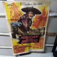 Cine: HURACAN SOBRE MEXICO SPAGHETTI POSTER ORIGINAL 70X100 YY (2673). Lote 271850608