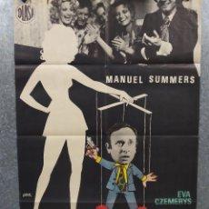 Cine: JUEGOS DE SOCIEDAD. MANUEL SUMMERS, EVA CZEMERYS. AÑO AÑO 1973 POSTER ORIGINAL. Lote 271866168