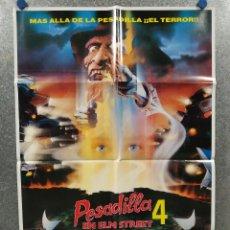 Cine: PESADILLA EN ELM STREET 4: EL AMO DEL SUEÑO. ROBERT ENGLUND. POSTER ORIGINAL. Lote 271874628