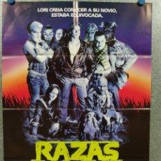 Cine: RAZAS DE NOCHE. CRAIG SHEFFER, ANNE BOBBY, DAVID CRONENBERG. AÑO 1990. POSTER ORIGINAL. Lote 272204243