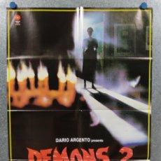 Cine: DEMONS 2. DAVID EDWIN KNIGHT, NANCY BRILLI, LAMBERTO BAVA, DARIO ARGENTO. OPOSTER ORIGINAL. Lote 272204948