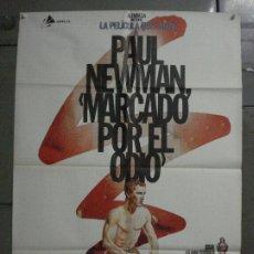 Cine: CDO L207 MARCADO POR EL ODIO PAUL NEWMAN BOXEO ZULUETA POSTER ORIGINAL ESPAÑOL 70X100 R-81. Lote 272225898