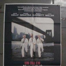 Cine: CDO L208 UN DIA EN NUEVA YORK GENE KELLY FRANK SINATRA POSTER ORIGINAL 70X100 ESPAÑOL R-83. Lote 272226528