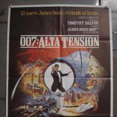 Cine: CDO L353 ALTA TENSION JAMES BOND TIMOTHY DALTON POSTER ORIGINAL 70X100 ESTRENO. Lote 272890038