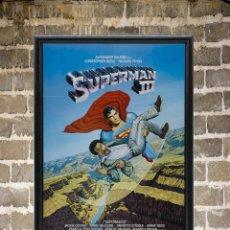 Cine: CUADRO SUPERMAN III POSTER CARTEL DE LA PELÍCULA ENMARCADO 30X20 CM. Lote 273148133