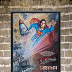 Cine: CUADRO SUPERMAN IV POSTER CARTEL DE LA PELÍCULA ENMARCADO 30X20 CM. Lote 273148168