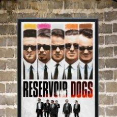 Cine: CUADRO POSTER ENMARCADO RESERVOIR DOGS CARTEL PELICULA 30X20 CM. Lote 273651493