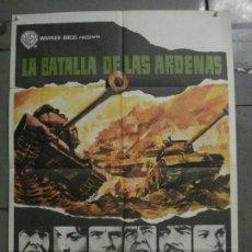Cine: CDO L454 LA BATALLA DE LAS ARDENAS HENRY FONDA CHARLES BRONSON POSTER ORIGINAL 70X100 ESTRENO. Lote 273992263
