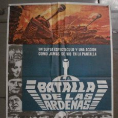 Cine: CDO L456 LA BATALLA DE LAS ARDENAS HENRY FONDA CHARLES BRONSON POSTER ORIGINAL 70X100 R-77. Lote 273993293
