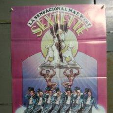 Cine: CDO L508 SEXTETTE MAE WEST RINGO STARR POSTER ORIGINAL 88X58 ESTRENO. Lote 274183273