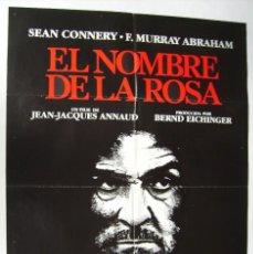 Cinema: EL NOMBRE DE LA ROSA, CON SEAN CONNERY. POSTER. 68,5 X 96 CMS. 1986.. Lote 274243063
