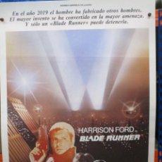 Cine: CARTEL ORIGINAL - BLADE RUNNER - HARRRISON FORD - RIDLEY SCOTT - 100 X 70 - MUY BUEN ESTADO. Lote 275024158