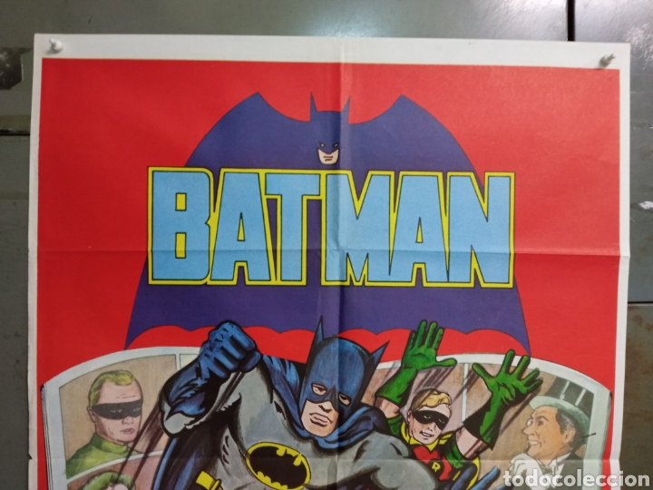 Cine: ABH01 BATMAN ADAM WEST COMIC TV SERIES POSTER ORIGINAL ESTRENO 70X100 - Foto 2 - 275038528