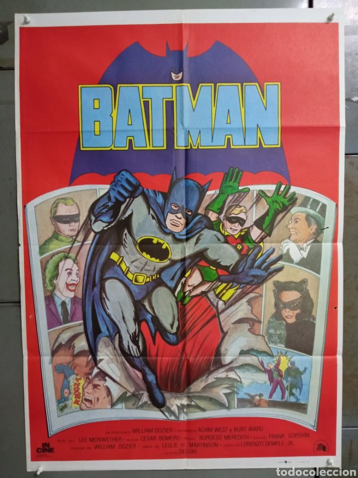 ABH01 BATMAN ADAM WEST COMIC TV SERIES POSTER ORIGINAL ESTRENO 70X100 (Cine - Posters y Carteles - Ciencia Ficción)
