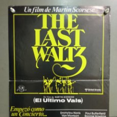 Cine: ABH00 EL ULTIMO VALS BOB DYLAN THE BAND MARTIN SCORSESE RINGO STARR POSTER ORIGINAL 35X50 ESTRENO. Lote 275038668