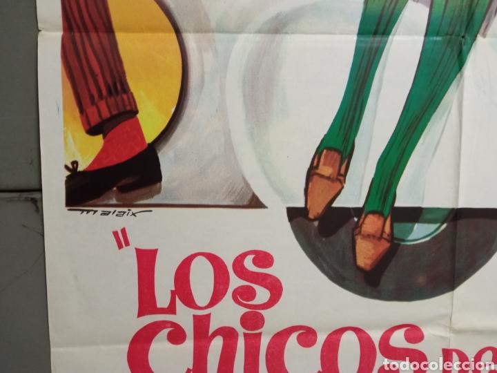 Cine: ABG94 LOS CHICOS DEL PREU VESPA KARINA CAMILO SESTO LOS PEKENIKES POSTER ORIGINAL ESTRENO 70X100 - Foto 4 - 275039748