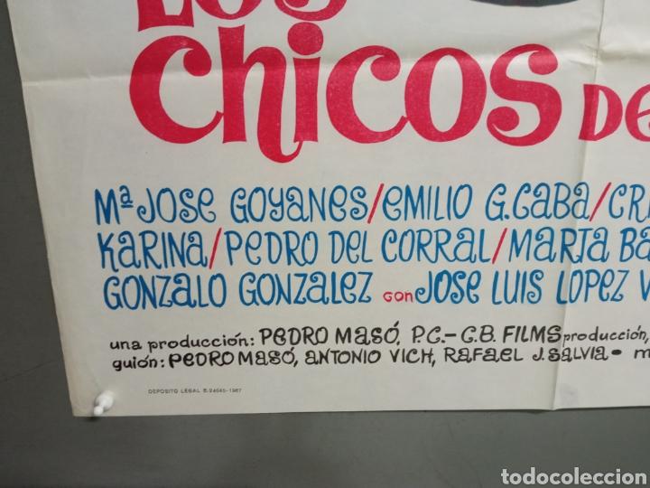 Cine: ABG94 LOS CHICOS DEL PREU VESPA KARINA CAMILO SESTO LOS PEKENIKES POSTER ORIGINAL ESTRENO 70X100 - Foto 5 - 275039748