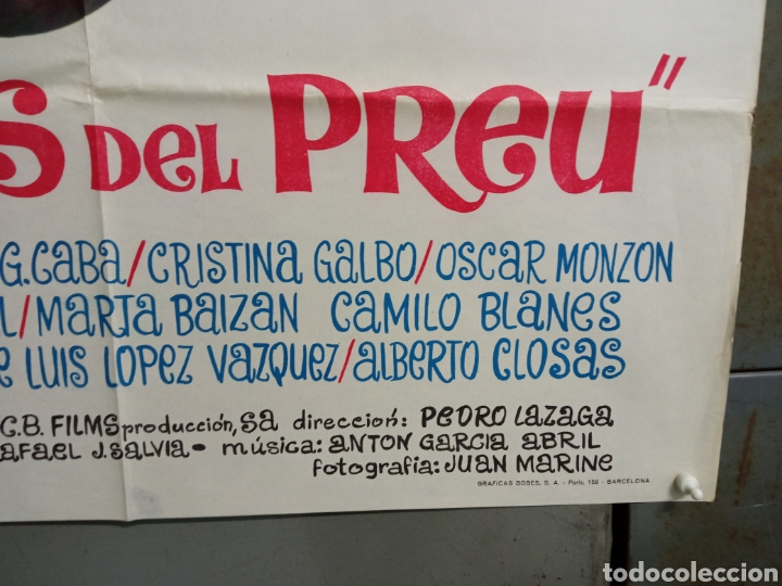 Cine: ABG94 LOS CHICOS DEL PREU VESPA KARINA CAMILO SESTO LOS PEKENIKES POSTER ORIGINAL ESTRENO 70X100 - Foto 9 - 275039748
