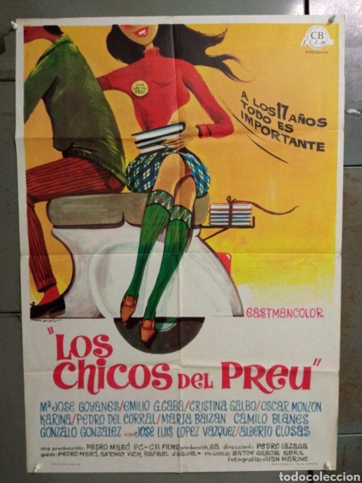 ABG94 LOS CHICOS DEL PREU VESPA KARINA CAMILO SESTO LOS PEKENIKES POSTER ORIGINAL ESTRENO 70X100 (Cine - Posters y Carteles - Clasico Español)