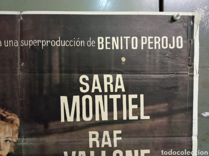 Cine: ABG90 LA VIOLETERA SARA MONTIEL POSTER ORIGINAL 70X100 ESTRENO - Foto 6 - 275043838